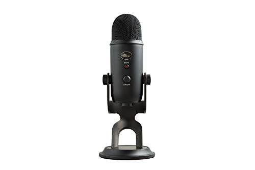 Microfone Blue Yeti Usb Blackout Condensador Profissional