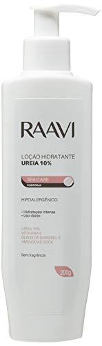 Loção Hidratante Ureia 10%, Hipoalergênica, Spa Care, Raavi, 200 g