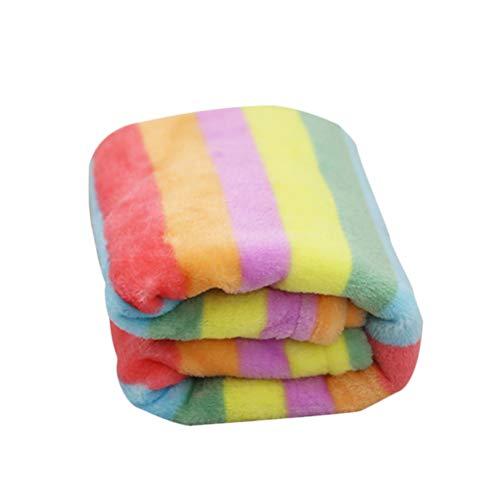 1 PC Cobertor Pet de Flanela Para Cachorro Cobertor Quente Arco-Íris Cobertura de Dormir Animal De Estimação Cobertor Macio Pet Dog Cama para Cachorro Gato Tamanho - L