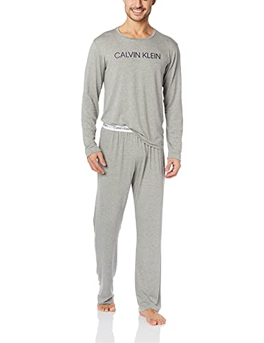 Conjunto de pijama manga longa, Calvin Klein, Masculino, mescla, P