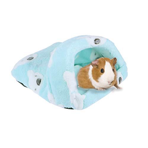 UKCOCO Inverno Quente Cama de Hamster Ninho de Rede Ninho Casa Pequeno Animal Gaiola Acessórios Cama para Porquinho-Da-Índia Ouriço Chinchila Furão Esquilo Rato Brincando Dormindo Verde