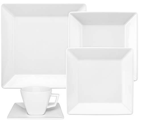 1 Aparelho De Jantar/chá 30 Peças Quartier White - Gm30-2000 Oxford Branco