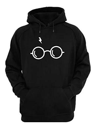 Moletom Blusa Canguru Harry Potter Óculos Promoção (GG, Preto)