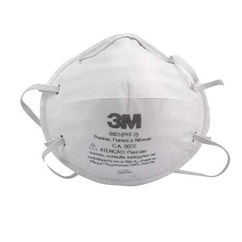 3M 8801, Respirador Descartável Tipo Concha PFF2 CA 2072