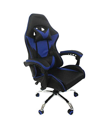 Cadeira Gamer Reclinável Azul/Preto