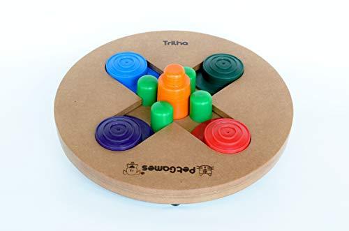 Comedouro Brinquedo Interativo Pet Games Formato Trilha