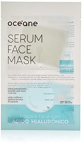 Máscara Facial Ácido Hialurônico, Serum Face Mask, Océane