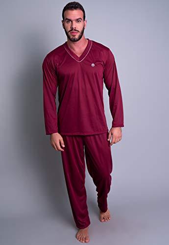 Pijama MVB Modas Adulto Masculino Blusa Manga Comprida E Calça