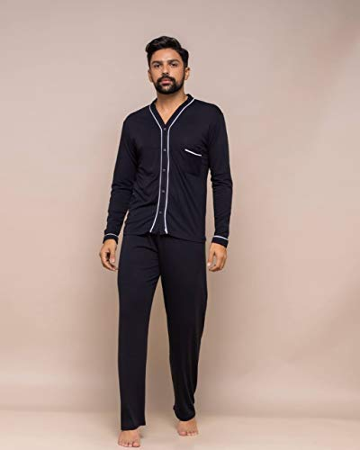 pijama masculino modelo americano manga longa com calça (p)
