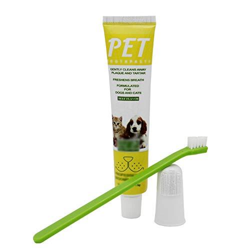 handfly Pasta de dente para cachorro Escova de dente para cachorro Escova de dente para cachorro Dedo cachorro kit de limpeza de dentes de cachorro 3 unidades para cachorro