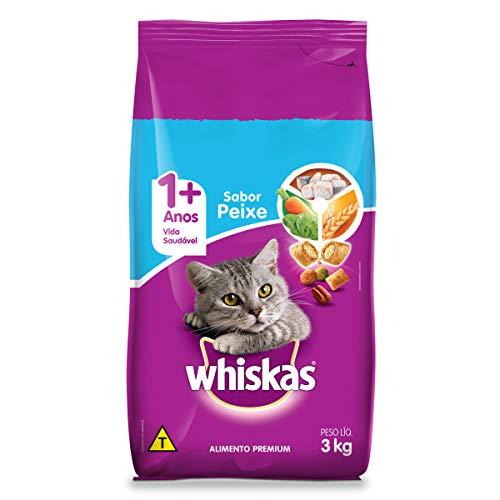 Ração Whiskas Peixe Para Gatos Adultos 3 kg