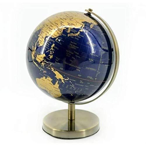 Globo Terrestre de Plástico Azul Gold Decoração 24cm Altura
