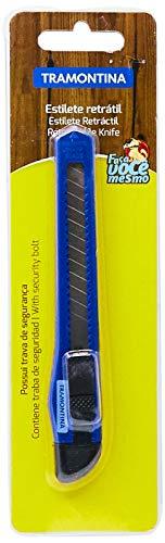 Tramontina 41170300 Estilete Estreito Basic com Lâmina em Aço Especial, 130 mm, Azul