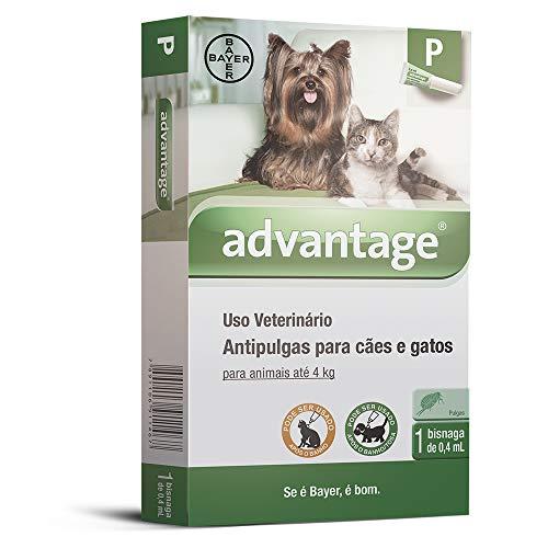 Antipulgas Advantage Bayer para Cães e Gatos de até 4kg - 1 Bisnaga de 0,4ml