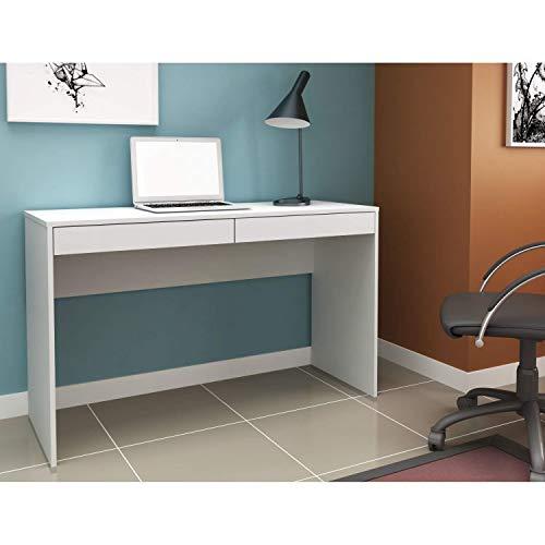 Escrivaninha para Escritório 2 Gavetas Home Office Hecol Móveis Branco