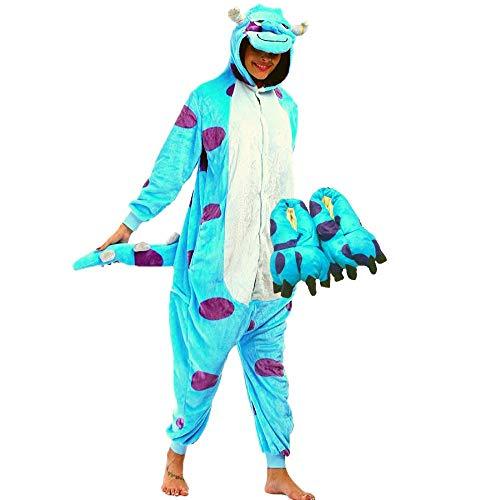 Kit Pijama e Pantufa Sullivan Fantasia Kigurumi Sully Monstros SA Tamanho: P