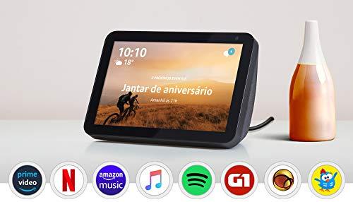Echo Show 8 - Smart Speaker com tela de 8' e Alexa - Cor Preta