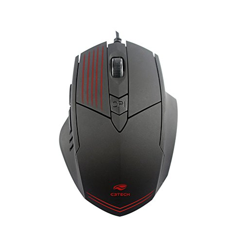 Mouse C3 Tech Gamer Mg-10BK 2400DPI 6B USB Led - Preto