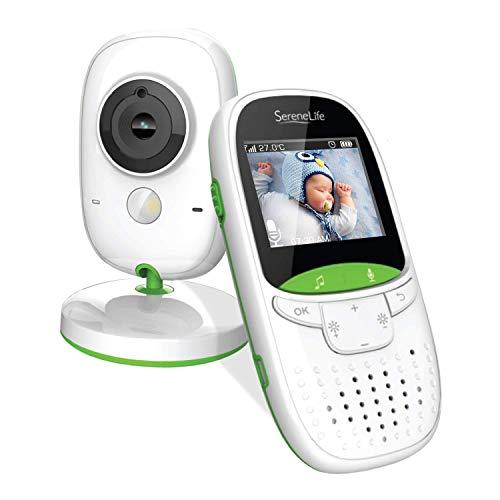 Babá Eletrônica Câmera Com Monitor Alta Qualidade Visão Noturna SereneLife