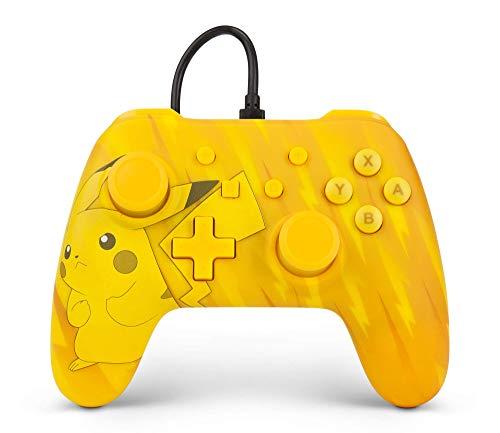 Controle Com Fio USB Pokemon Pikachu Power A - Switch / PC