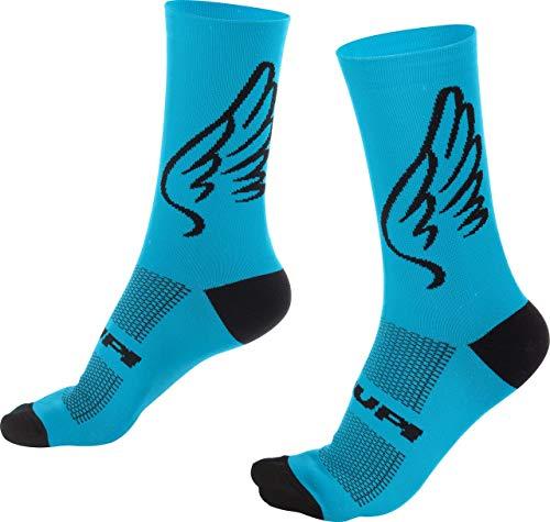 Meia Hupi Asas Azul, Cor: Azul, Tamanho: Único