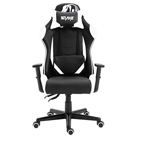 Cadeira Gamer Krait Snake Gaming Reclinável B88 Branca