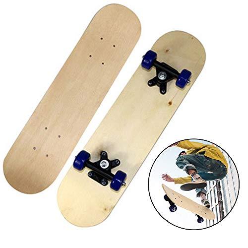 Skate infantil, 43 x 12,7 cm, skate completo, iniciantes, crianças, meninos, meninas, adultos, skate padrão juvenil, skate canadense, skate longboard, skate faça-você-mesmo, skate de mãos livres, presente para crianças