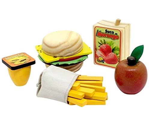 Coleção Comidinha - Kit Sanduíche - NewArt - Brinquedo Educativo de Madeira