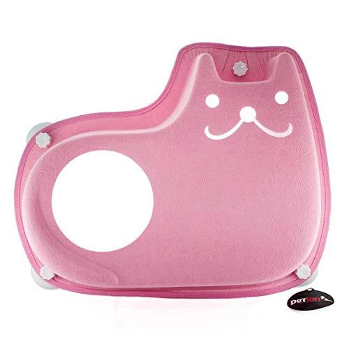 Cama Suspensa De Janela Ventosa Sorriso Para Gatos Rosa