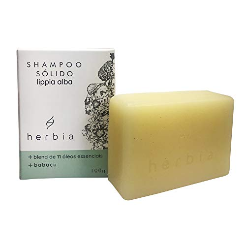 Shampoo Sólido Natural Fortalecedor Lippia Alba, Herbia