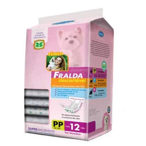 Fralda Descartável Chalesco Para Cães Fêmeas - Tamanho PP