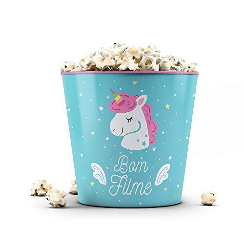 Balde de Pipoca 3,5 Litros Unicornio - Bom Filme