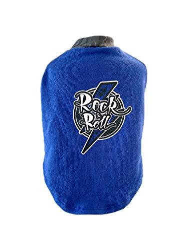 Moletom Rock para Pet, Azul, Nitsa Milla, Grande