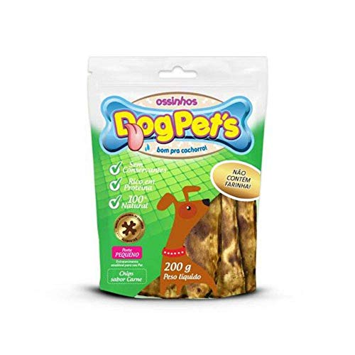 Petisco Chips Dog Pet's de Couro Bovino 100% Natural Carne