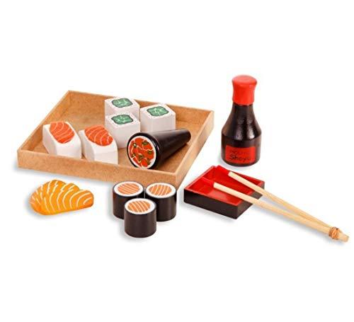 Brincando de Comidinhas - Kit Sushi - Madeira - 348 - New Art