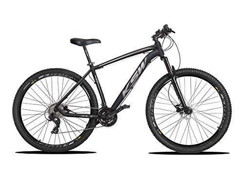 Bicicleta Aro 29 KSW XLT Sport 24v Hidráulico Preto com Prata 21 + KIT LED BRINDE