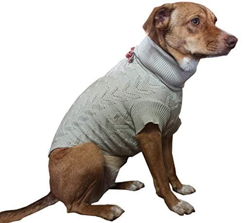 Roupa cachorro,pet, Dog Tricot mod.CLASIC TRABALHADO,estilosa,fofinho,quentinho, NUDE (M)
