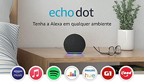 Novo Echo Dot (4ª Geração): Smart Speaker com Alexa - Cor Preta