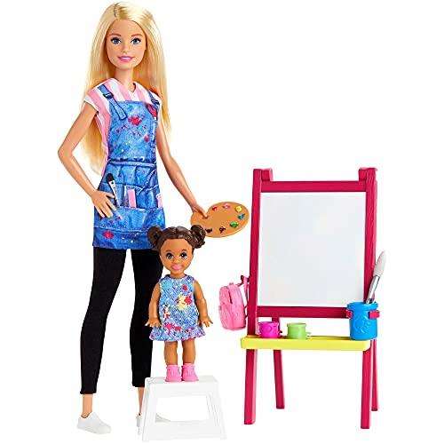 Boneca Barbie Profissões - Professora de Artes Loira & Playset