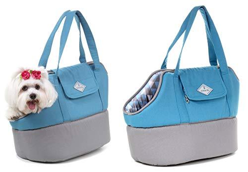 Bolsa de Transporte Baby para Cachorro e Gato Pet - G - Grande - Azul claro - Bichinho Chic