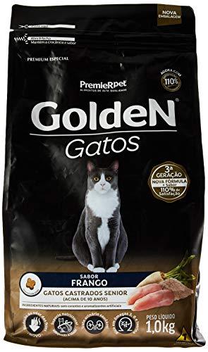 Premier Pet, Ração Golden para Gatos Sênior Castrados sabor Frango - 1kg