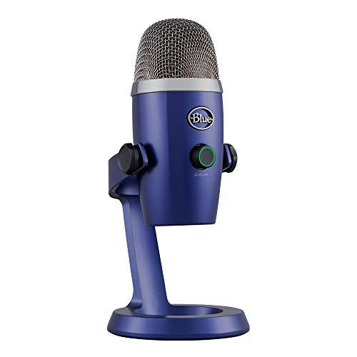 Microfone Condensador USB Blue Yeti Nano com Captação Cardióide e Omnidirecional, Plug and Play para Podcasts e Gravações em PC e Mac - Azul