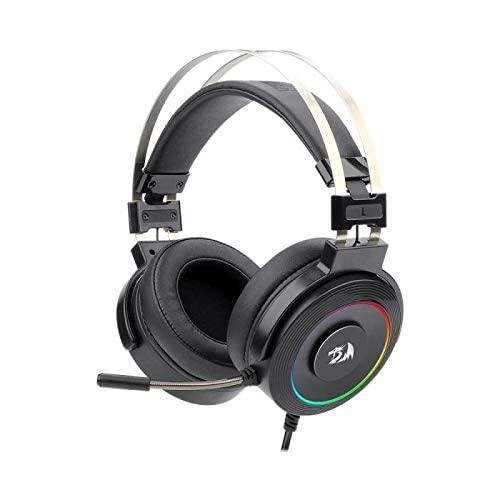 Headset Gamer Redragon Lamia 2 Preto RGB USB Som Surround 7.1 Virtual com Suporte de Headset H320RGB-1