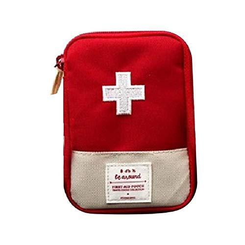 Kit de primeiros socorros MENGXI pequeno com kit de medicina portátil etiquetado para caminhadas, mochilão, acampamento, viagens, carro e ciclismo