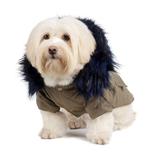 VILLCASE Casaco de Inverno para Cachorro Casaco Quente à Prova de Vento Com Capuz Roupas para Cães de Estimação Roupas para Cães de Clima Frio Casaco para Cachorros para Viagens Ao Ar