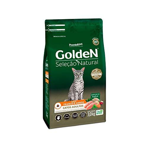 Ração Golden Seleção Natural para Gatos Adultos Sabor Frango - 1kg Premier Pet para Todas Todos os tamanhos de raça Adulto - Sabor Frango