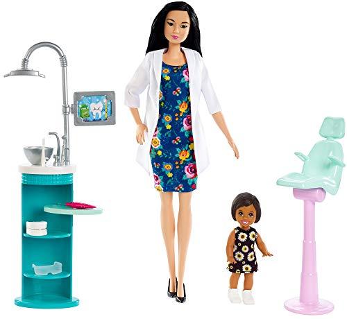 Boneca Barbie Profissões - Dentista e Playset Oriental e Cabelo Preto - FXP17 Mattel