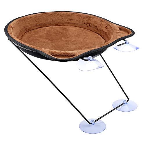 Fishlor Ninho de pendurar para animais de estimação, 37 cm, cama de gato, ventosa, janela, ninho para pendurar, casa de animais de estimação, rede para pendurar (café)