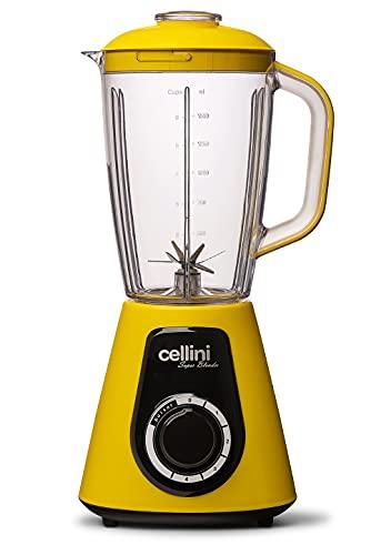 Liquidificador Cellini Super Blender 1000W - 4 Velocidades - 127V (Amarelo e Preto)