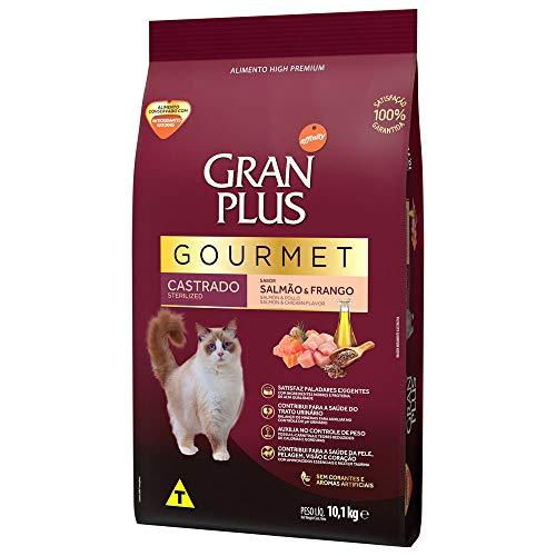 Ração Para Gatos Castrados Gran Plus Gourmet Salmão E Frango 10,1Kg